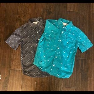Old Navy Boys size 8 button down shirts. 2 shirts
